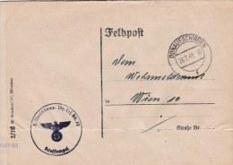 Feldpost WW2: Reused Cover From Jäger Ersatz Bataillon 75 (2. Marschkompagnie) P/m Donaueschingen 26.7.1943 - Cover Only - Militaria