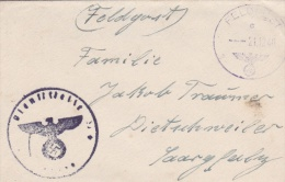 Feldpost WW2: From France - Reserve-Festungs-Flak-Abt Eilung 333 (4. Batterie) FP L31218 LGPA Paris P/m 21.12.1940 - Cov - Militaria
