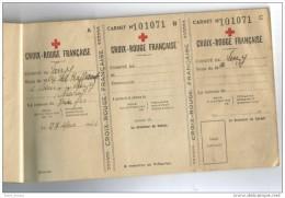 Croix Rouge Comité Varzy Entrains Sur Nohain  Carnet Souscriptions 1944 - Vieux Papiers