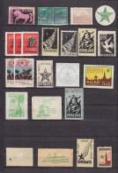 Small Collection Of ESPERANTO Labels Vignetten Denmark Sweden Netherlands Sfinx Horse Cheval Pferd MNH** (6 Scans) - Esperanto
