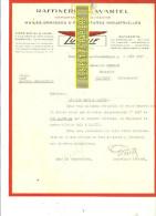 59 - Nord - ROSENDAEL-LES-DUNKERQUE - Facture WARTEL - Raffinerie – 1927 - REF 153 - 1900 – 1949