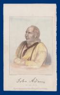 HAND COLOURED ENGRAVING PUB. 1860 PITCAIRN IS. JOHN ADAMS 1754-1829 LEADER BOUNTY COMMUNITY - Estampes & Gravures