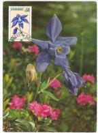 ANDORRE. Fleur : L'Ancolie.  Une Carte-maximum - Pflanzen Und Botanik