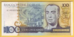 BRESIL - Billet De 100 Cruzados. (1986-88). Pick: 211b. NEUF - Brazil