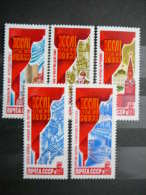 Russia SU 1986 MNH # Mi.5665/9 Resolutions Of 27th Communist Party Congress. - Unused Stamps