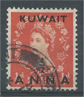 Kuwait, 1/2a On 1/2p, Elizabeth II, 1956, VFU - Kuwait