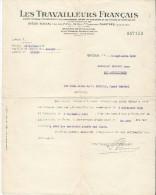 Les Travailleurs Français/CHARTRES/Société Mutuelle D'Assurances/ Chasse/Droisy /Eure/1938     BA32 - Bank & Insurance