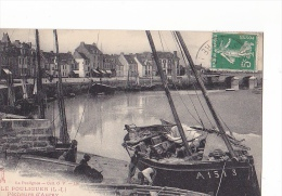 24221 Lot 3 Cpa -LE POULIGUEN - Quais Vue Promenade, Pecheurs Auray, Vue Entree Port Marée Basse -voilier A1513