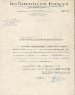 Les Travailleurs Français/CHARTRES/Société Mutuelle D´Assurances/ Chasse/Droisy /Eure/1945   BA33 - Bank & Insurance