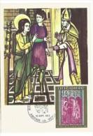 """ANDORRE. """"St Jean Apôtre""""  Retable De La Chapelle Romane De St Jean De Caselles..Carte-maximum 1972 - Christianisme"""