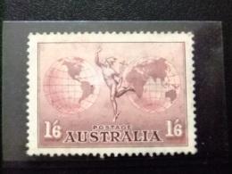 AUSTRALIA - AUSTRALIE - 1937 - VOLS TRANSOCÉANS - YVERT & TELLIER Nº PA 6 * MH - 1937-52 George VI