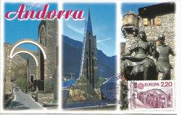 Sanctuaire Notre Dame De Meritxell (Sainte Patronne De L´Andorre) Basilique. Une Carte-maximum. - Maximum Cards