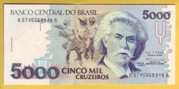 BRESIL - Billet De 5000 Cruzeiros. (1990-93). Pick: 232c. NEUF - Brazil