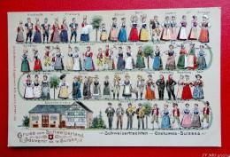 Suisse - Costumes Suisses - Carte En Relief  - 1907-   Recto/verso - Non Classés