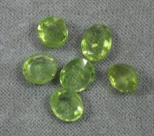 Peridot 6 Stück Geschliffen - Ca 7-8,5 Mm Dm - Jewels & Clocks