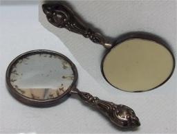 Alter Kleiner Handtaschenspiegel - Silberzeug