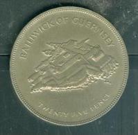 25 NEW PENCE/ BAILIWICK OF GUERNSEY / 1977 - Pia9403 - 1971-… : Monedas Decimales