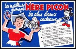 Buvard Fromages Mère Picon Avec Ses Bons Cadeaux , Le Cinémagic. Mickey. - Buvards, Protège-cahiers Illustrés