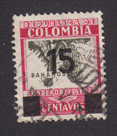 Colombia, Scott #C117, Used, Coffee Surchargeed, Issued 1939 - Colombia