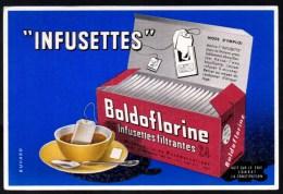 Buvard Infusettes Boldoflorine. Pub Au Verso. - Café & Thé