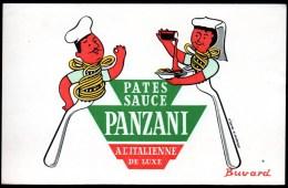 Buvard Pâtes Et Sauce Panzani à L'italienne. Dessin Morvan. - Buvards, Protège-cahiers Illustrés