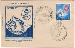NEPAL - 1961 - Mount Everest, Himalaya - FDC - Nepal