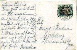 C4 Sarre Saargebiet Carte Postale Avec  Mi 72 - 1920-35 Società Delle Nazioni