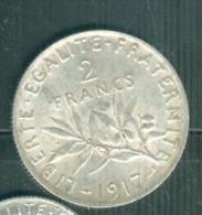 2 Francs 1917 - Semeuse - Argent- SILVER bel etat  - pia9505