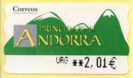 ANDORRA ESPAÑOLA / ANDORRE ESPAGNOLE (2006) - ATM EPELSA - URGENT / EXPRESS Mail - Vignette Affranchissement - Unused Stamps