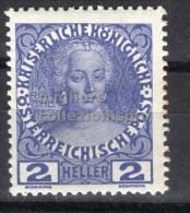 MC  1908  Autriche 2h  mh*  Y&T 102