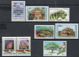 St Lucia 1985 - Royal Visit Opts Complete SG846-853 MNH Cat £33.50 SG2015 - Key Set - St.Lucie (1979-...)