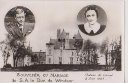 SOUVENIR DU MARIAGE De S.A.LE DUC DE WINDSOR-Chateau De CANDE-3 Juin 1937- - Familles Royales