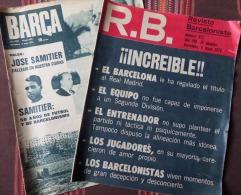 FOOTBALL: FC BARCELONA: 2 REVUES BARCELONISTES 1972 MORT DE JOSÉ SAMITER - Revues & Journaux