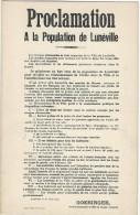 Carte Postale/Non Circulée/ Proclamation à La Population De Lunéville /Goeringer/Général En Chef/1914   POIL165 - 1914-18