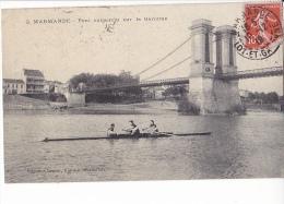 24223 Deux 2 Cpa, Marmandes Pont Suspendu Garonne Sport Aviron Canoe N°2  -kiosque Musique N° 3 Magasins Reunis - Marmande
