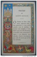 IMAGE PIEUSE (chromo Doré Fin XIXème) : PRIERE A SAINT IGNACE / HOLY CARD / SANTINI - Andachtsbilder