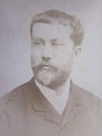 NICE Avant 1900 Portrait Homme Moustache Et Barbichette Costume  Photographie Photo Type Carte De Visite - Fotos