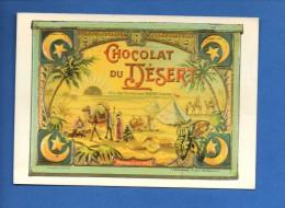 """N°1999 - Repro """"carte Publicitaire...Chocolat Du Désert....Boite Métallique.. Edit L´Avion Postal.....   Recto-verso - Advertising"""