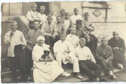 Carte Postale /Photographie/ Groupe De Militaires Convalescents Et Infirmiére?/1923   PH220 - Autres