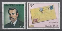 PAIRE NEUVE DE CUBA - JOURNEE DU TIMBRE 1972 N° Y&T 1573/1574 - Journée Du Timbre