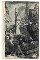 CARTOLINA GIOVANNA D'ARCO - JEANNE D'ARC PEINTURES MURALES DU PANTHEON - Cartes Postales
