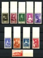 MONACO - 185 / 194 - S�rie des Princes et Princesses - Neufs  N** - Tous Bord de Feuille - Luxe - Cote : 555 Eur.