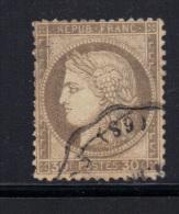 FRANCE- Y&T N°56- Oblitération Convoyeur - 1871-1875 Ceres