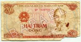 Billet Vietnamien De 200 Dông (1987) (Recto-Verso) - Vietnam