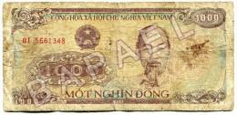 Billet Vietnamien De 1000 Dông (Recto-Verso) - Viêt-Nam