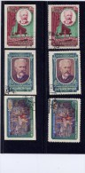 """RUSSIA, 1958, # 2044-46, PERF & IMPERF, Swan Lake Ballet & Tchaikovsky  """"CANCELLED TO ORDER - Used Stamps"""