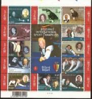 Belgium**BILLIARD Champions-SHEET 12vals-Ceulemans-2006-MNH-Biljart-Billard - Unclassified