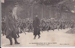 PARIS X� CHATEAU d� EAU Manifestations CGT 1er MAI 1906 journ�e 8 heures SOLDATS Troupes au Repos
