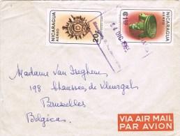 Nicaragua1965 - Postal Cover Manuaga - Brussels (Belgium) - Nicaragua