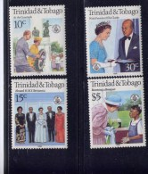 TRINIDAD & TOBAGO, 1986. # 443-6. QUEEN ELIZABETH 11,  60th ANNIVERSARY    MNH - Trinité & Tobago (1962-...)